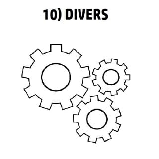 10) DIVERS
